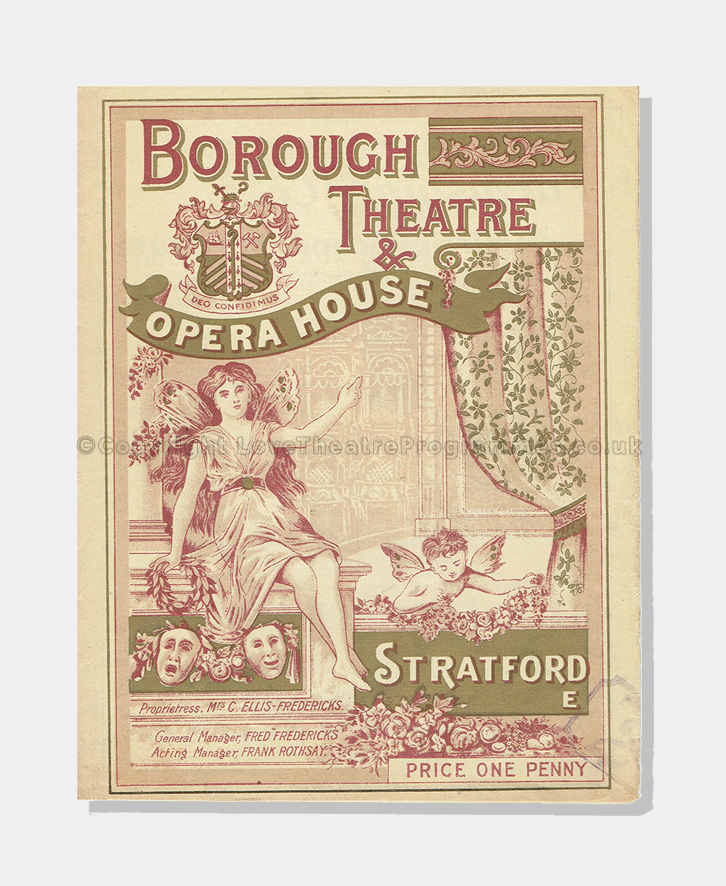 1904 - Borough Theatre Opera House - Duchess of Dantzic