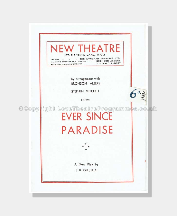 1947 EVER SINCE PARADISE New Theatre
