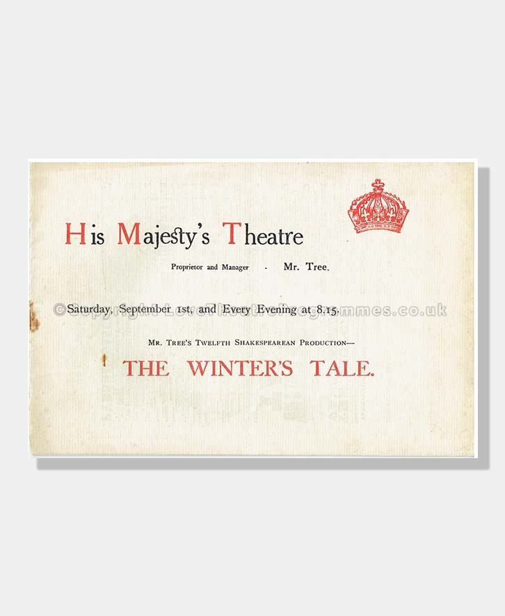 1906 THE WINTER'S TALE His Majesty's Theatre