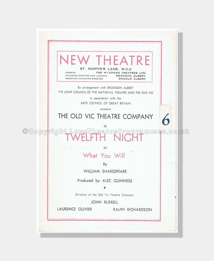 1948 TWELFTH NIGHT New Theatre 1680171940