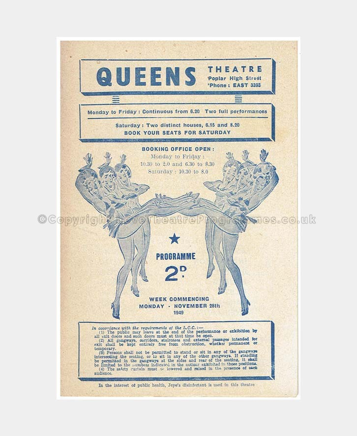 1949 KEEP THE BALL ROLLING Queen's Theatre Poplar