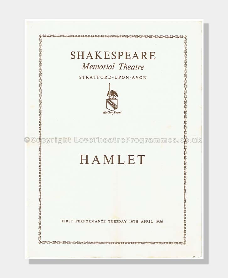 1956 HAMLET Shakespeare Memorial Theatre
