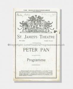 1923 PETER PAN St James's Theatre