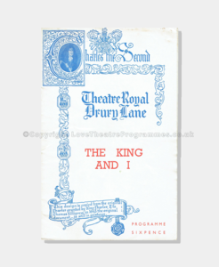 1953- Theatre Royal Dury Lane - The King and I