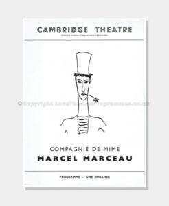 1957 - Cambridge Theatre - Marcel Marceau