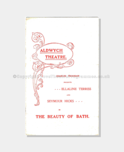 1906 THE BEAUTY OF BATH Aldwych Theatre pc151900 (1 crop) frame