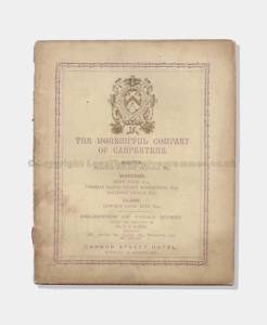 1876 Worshipful Company of Carpenters 231870 frame