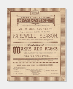 1885 Theatre Royal Haymarket Masks and Faces 6221880 frame