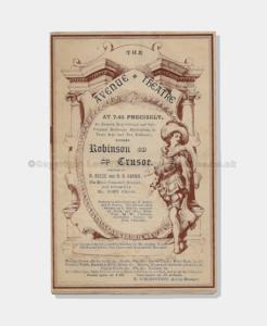 1887 Avenue Theatre Robinson Crusoe