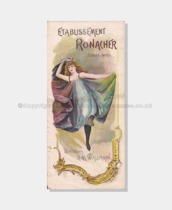 Theatre Programmes, Love Theatre Programmes, 1895, Etablissement, Ronacher