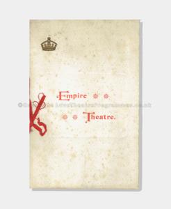 Theatre Programmes, Love Theatre Programmes, 1898, Variety, Empire Theatre