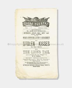 1877 - Globe Theatre - Stolen Kisses