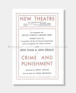 1946 CRIME AND PUNSHMENT New Theatre