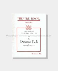 1950 THE DAMASCUS BLADE Theatre Royal Brighton