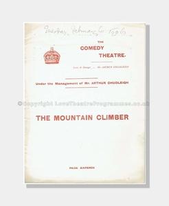 1906 THE MOUNTAIN CLIMBER Comedy Theatre