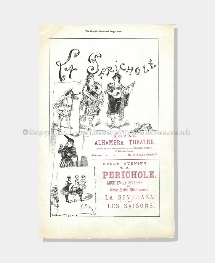 1878 - Royal Alhambra - La Perichole