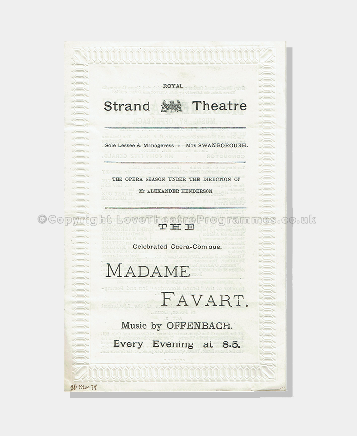 1879 - Royal Strand - Madame Favart