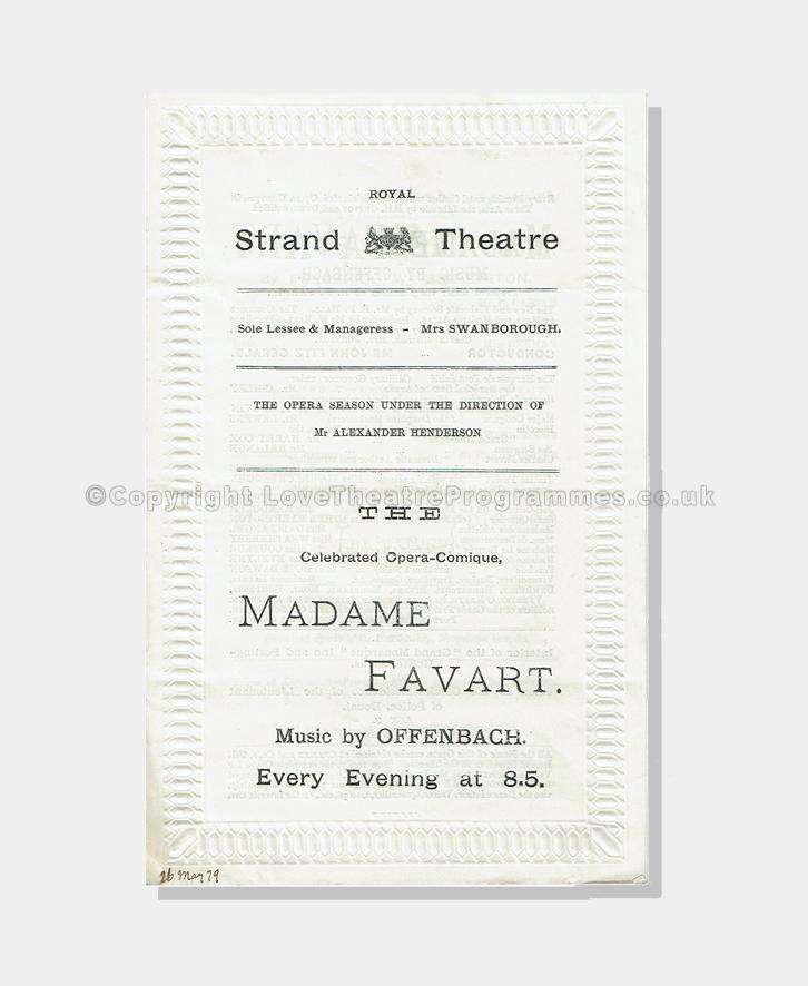 1879 - Royal Strand - Madame Favart