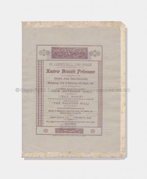 1887, St James Hall, Silk Programme