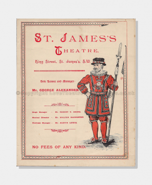 1893 The Second Mrs Tanqueray St James's Theatre