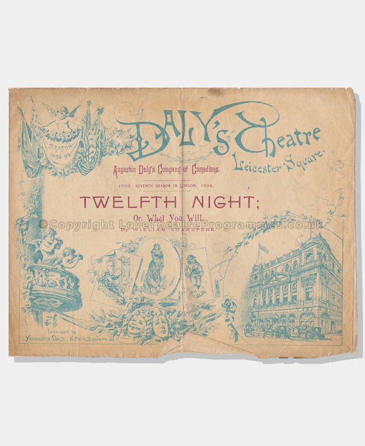 1894 Twelfth Night Daly's Theatre