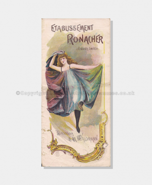 Theatre Programmes, Love Theatre Programmes, 1895, Etablissement, Ronacher