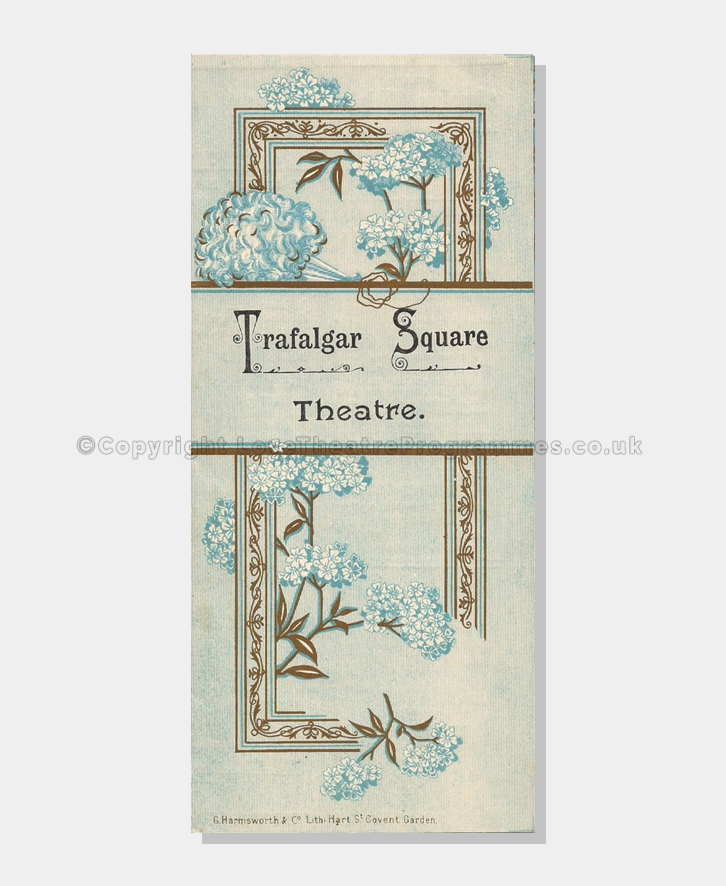 Theatre Programmes, Love Theatre Programmes,1895, Trafalgar Theatre ,Go Bang,