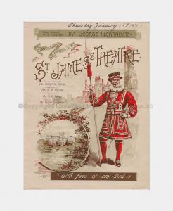 1896 The Prisoner of Zenda St James's Theatre