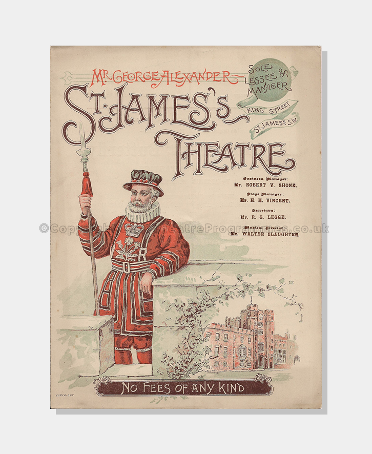 1896 The Prisoner of Zenda St James's Theatre