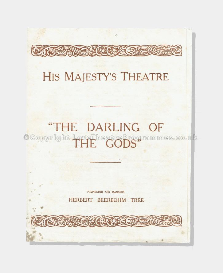 Love Theatre Programmes, Theatre Programme