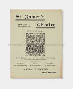 1906 HIS HOUSE IN ORDER St James's Theatre