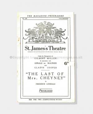 1926 THE LAST MRS CHEYNEY St James's Theatre