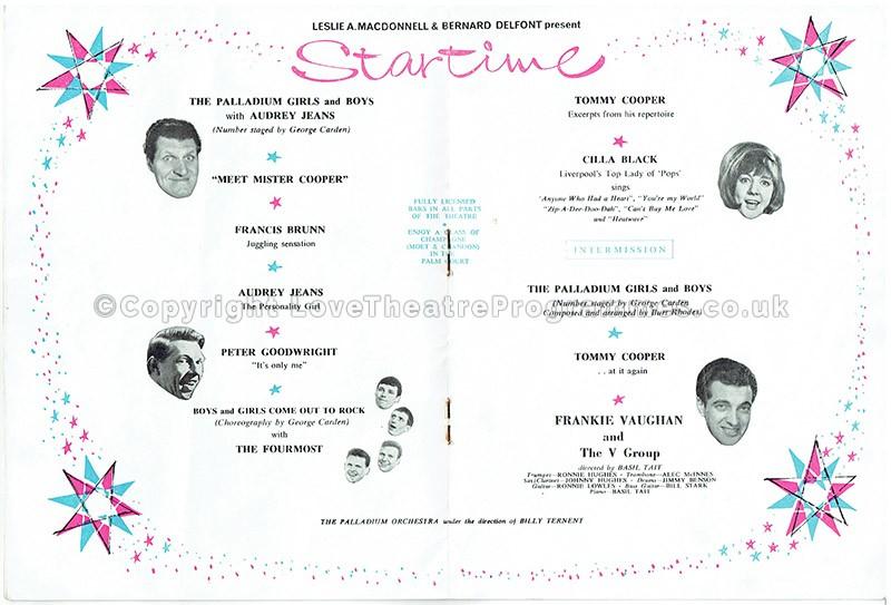 1964 - London Palladium - Startime - Love Theatre Programmes