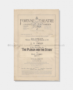 The Plough & The Stars , theatre programmes