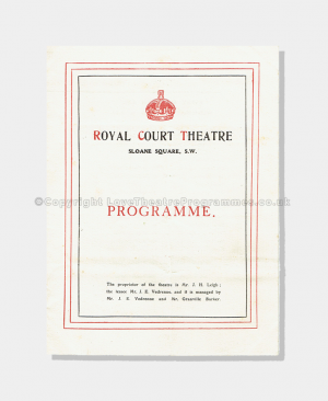 1903 - Royal Court Theatre - Return of the Prodigal