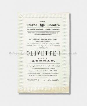1880 - Royal Strand Theatre -Olivette!