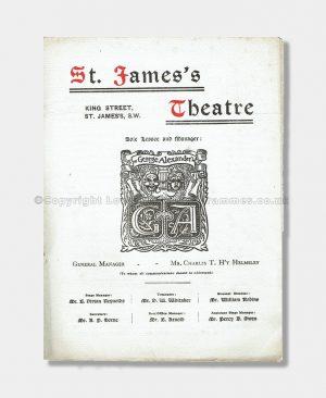 1910 - St. James's Theatre - Eccentric Lord Comberdene