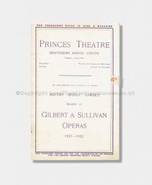1921 - Princes Theatre - Patience