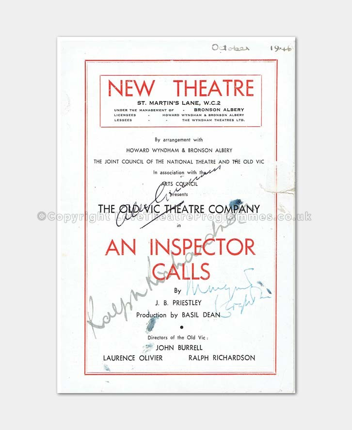 1946 - New Theatre - An Inspector Calls