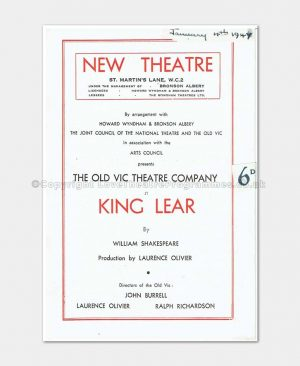 1947 - New Theatre - King Lear