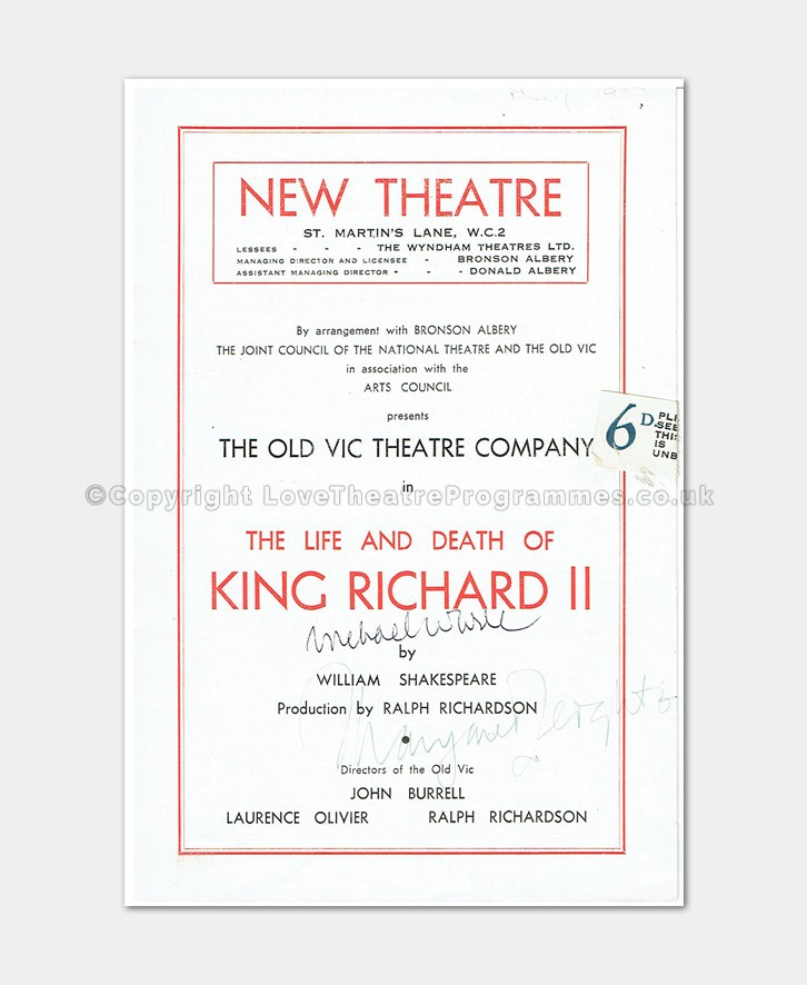 1947 New Theatre King Richard II