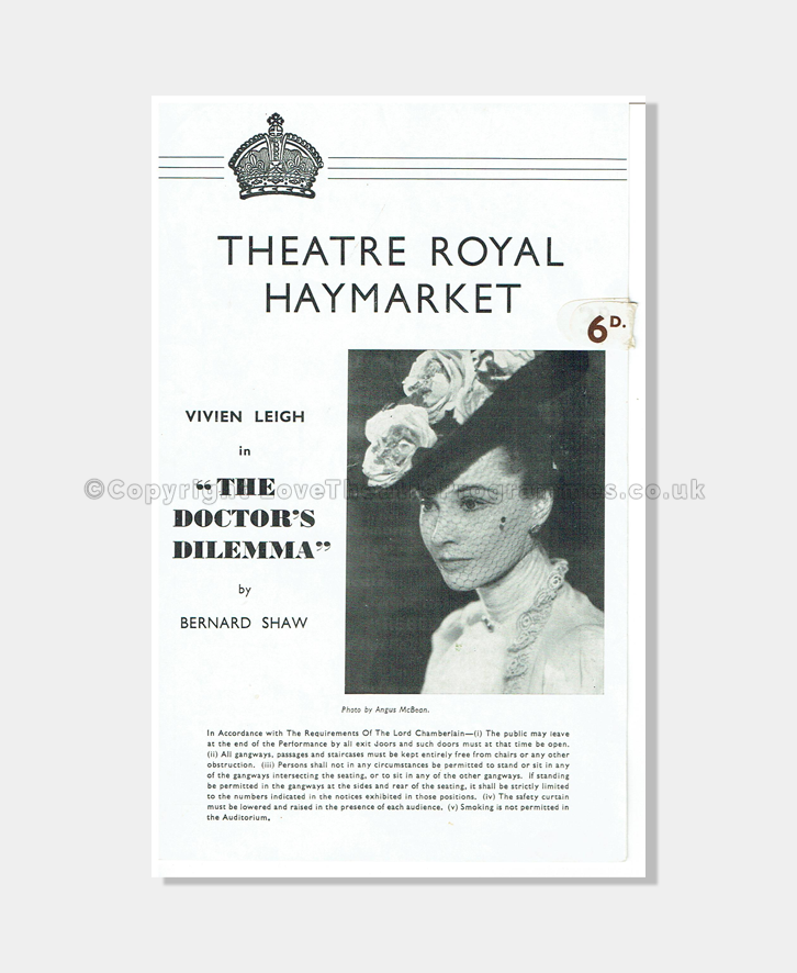 1942 Theatre Royal Haymarket Vivien Leigh