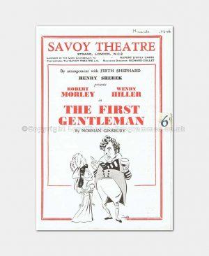 1946 Savoy Theatre The First Gentleman