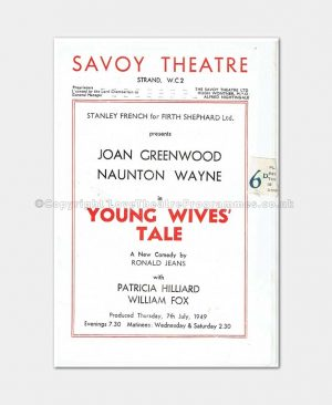 1949 Savoy Theatre Young Wives Tale