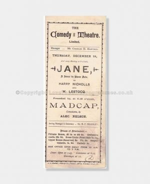 1890 Comedy Theatre, Jane