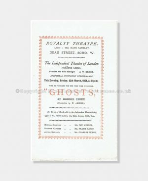 1891 Royalty Theatre, Ghosts