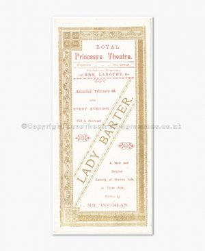 1891 Royal Princess's Theatre, Lily Langtree