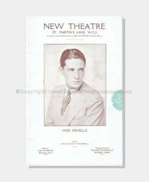 1929 Ivor Novello, New Theatre