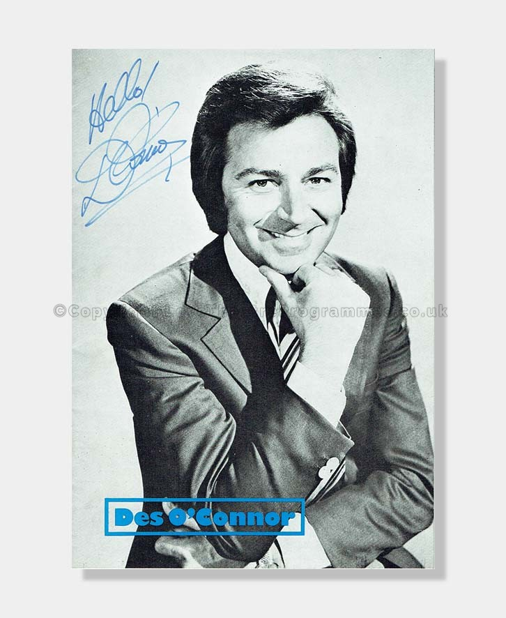 1972 Des O'Connor Signed