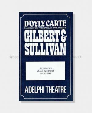1982 D'Oyly Carte Adelphi Theatre
